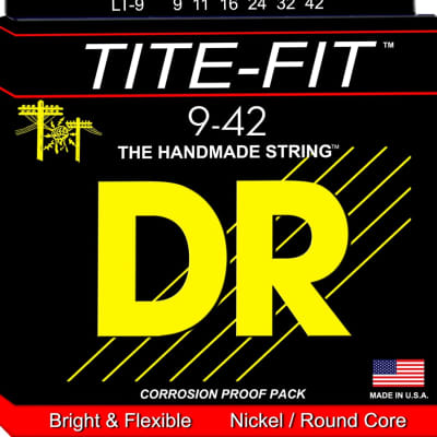 DR TITE-FIT™ - Nickel Plated Electric Guitar Strings: Light 9-42