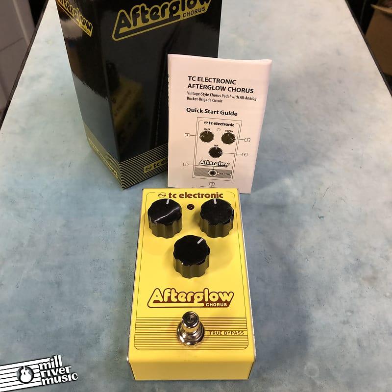 TC Electronic Afterglow Chorus Effects Pedal w/ Box