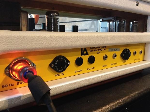 industrial amps od 15 boutique guitar amp white tolex reverb. Black Bedroom Furniture Sets. Home Design Ideas