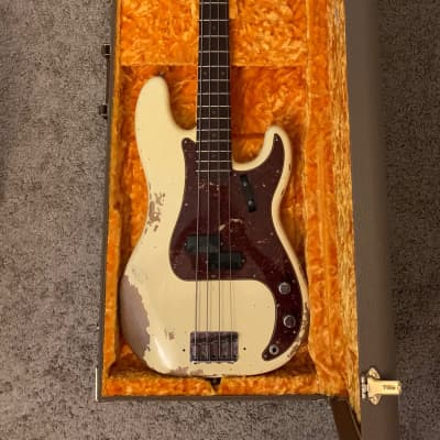 Fender Custom Shop 1960 Heavy Relic Precision Bass 2019 Aged Vintage White for sale