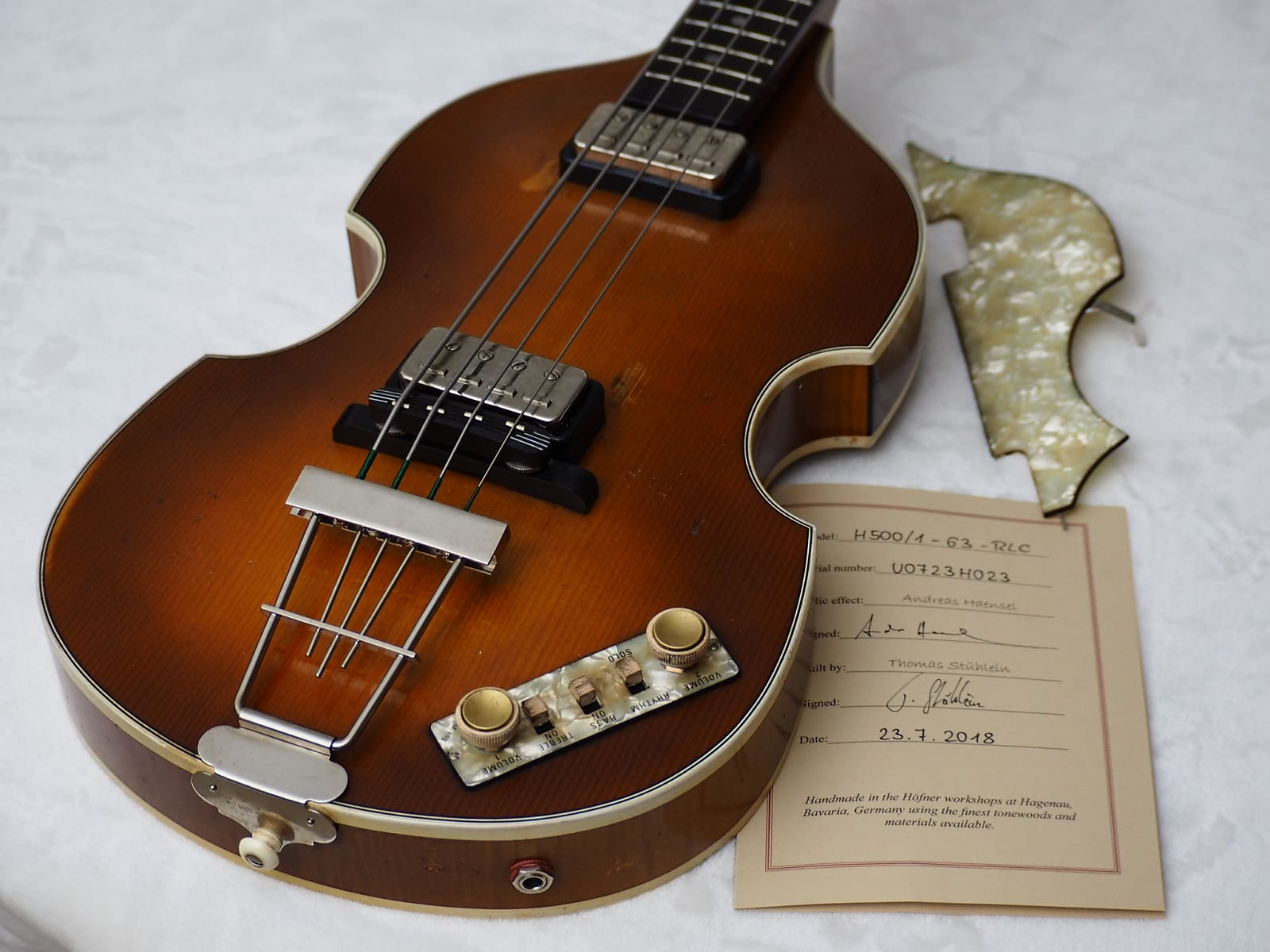 Hofner 500/1 V63 Relic Reissue 2018 Aged Violin Burst Last of the Gold Labels