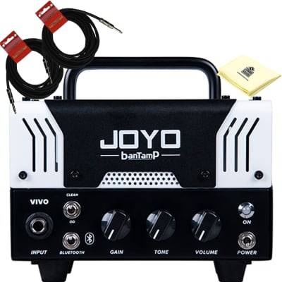 JOYO Bantamp VIVO Mini 20W Distortion Channel Pre Amp Tube Hybrid Guitar Amp Head Bundle with Cables for sale