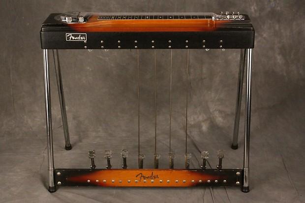 Fender 400 Pedal Steel Guitar Sunburst W9 Pedals 1964 Reverb