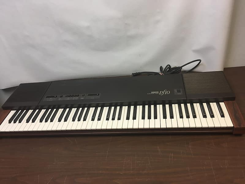 yamaha pf10 electric piano 1980s brown wood 76 keyboard reverb. Black Bedroom Furniture Sets. Home Design Ideas