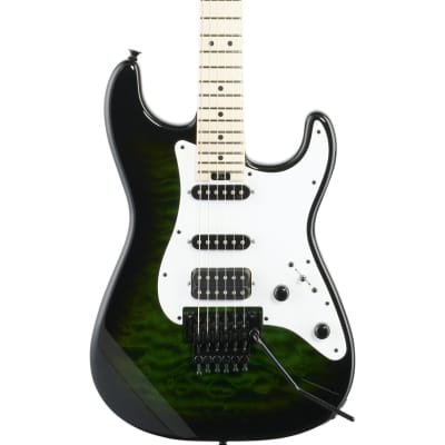 Jackson USA Adrian Smith San Dimas SDQM Electric Guitar, Transparent Green Burst