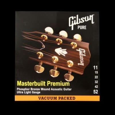 Gibson Masterbuilt Premium Acoustic Strings (Ultra Light 11-52)