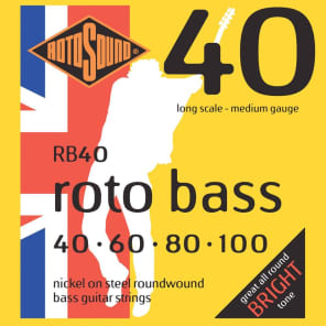 Rotosound RB40-5 Rotobass Long Scale Medium 5-String Bass Strings 40-125