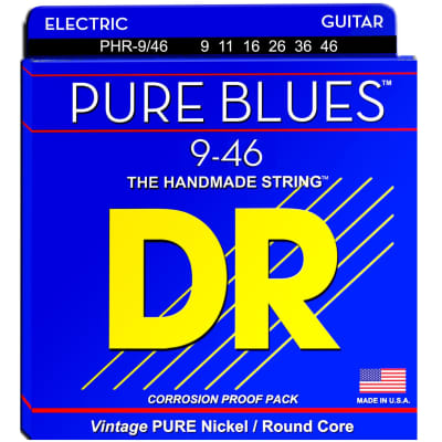 DR Strings PHR-9/46 9-46 Electric Pure Blue Strings