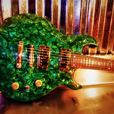 Retroverb Plush Green Pearl Custom One Off Guitar. Beautiful show guitar. Collectible Rare. for sale