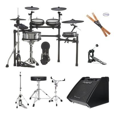 Roland TD-27KV V-Drums Kit - Roland PM-100 - Pearl Throne D50 - Gibraltar 6707 - Gibraltar 6706 - Pearl Bass P530 - Drum Sticks