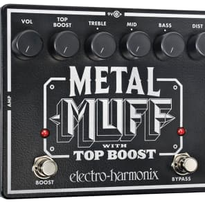 Electro Harmonix Metal Muff with Top Boost Pedal for sale