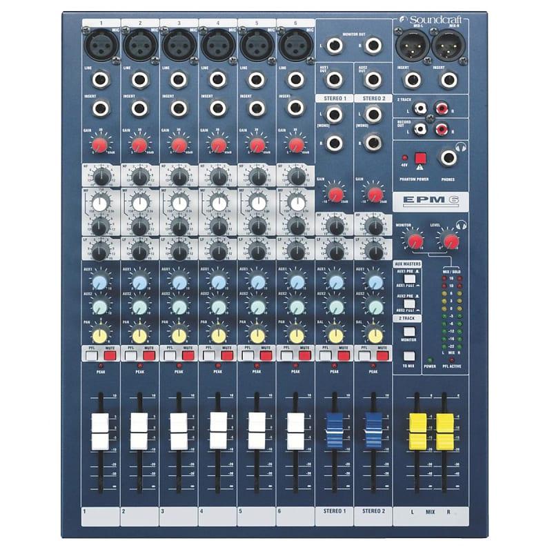 Soundcraft EPM6 6-Channel Multi-Format 6 Mono + 2 Stereo Analog Mixer Console