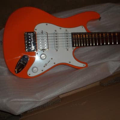Mitchell TD-100 Short Scale Travel Guitar Orange In Box for sale