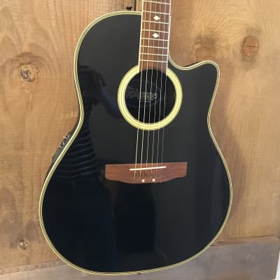 Applause by Ovation AE-38 Acoustic Electric Guitar Black w/ OHSC for sale
