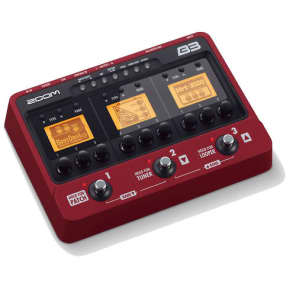Zoom B3 Bass Effects and Amp Simulator Red