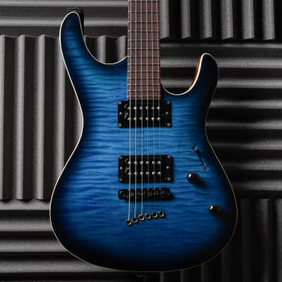 Mayones Setius 6 GTM Dirty Blue Burst - Bareknuckle Pickups