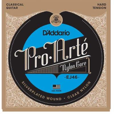 D'Addario EJ46 Pro-Arté Nylon Classical Guitar Strings, Hard Tension
