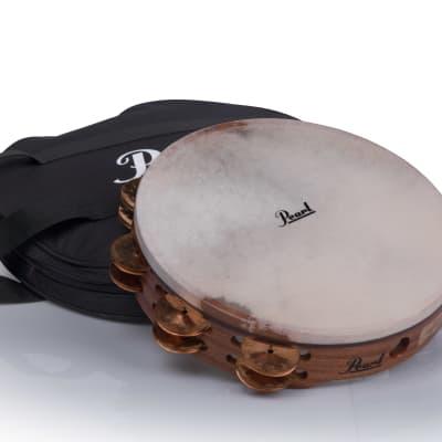 "Pearl PETM1018CP 10"" Beryllium Copper Orchestral Tambourine"