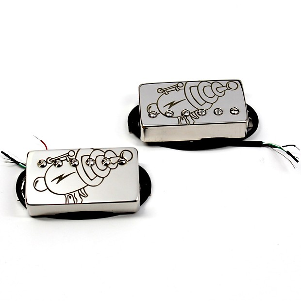 Bare Knuckle Rebel Yell Pickup Set 50mm Spacing Chrome Covers w/Ray Gun Etch