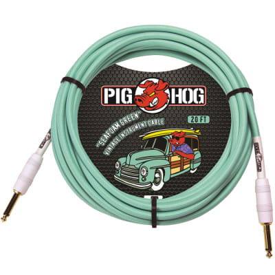 Audio Technica PCH20SG Seafoam Green 20-Ft 1/4 inch Guitar Cable