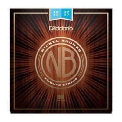 D'Addario Nickel Bronze 12-String Acoutic Guitar String | 10-47