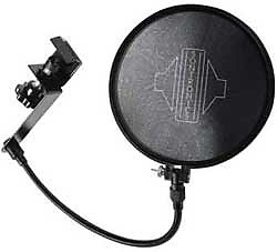 Sontronics Adjustable Microphone Pop Filter with boom clamp NEW