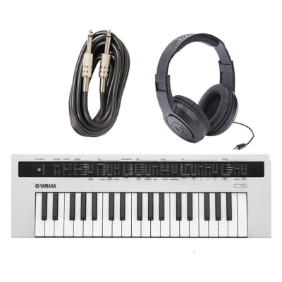 Yamaha Reface CS with Instrument Cable and Headphones