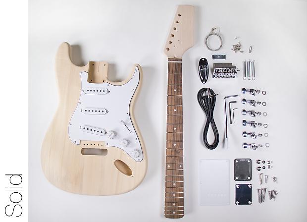 diy electric guitar kit st style build your own guitar reverb. Black Bedroom Furniture Sets. Home Design Ideas