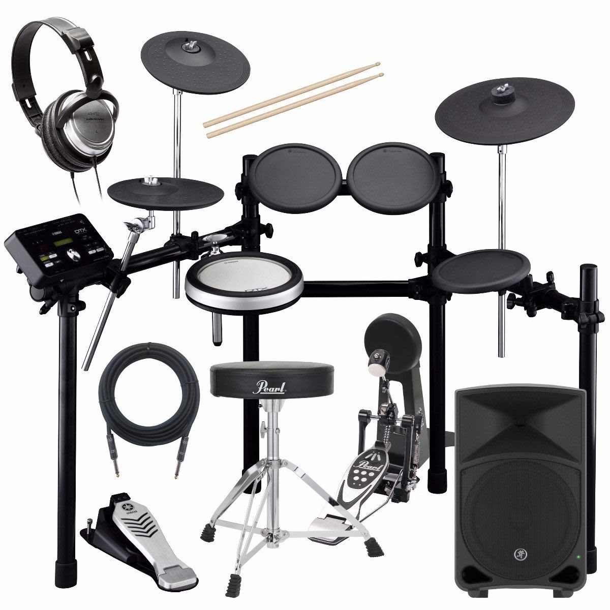 yamaha dtx522k electronic drum set complete drum bundle reverb. Black Bedroom Furniture Sets. Home Design Ideas
