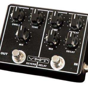 VHT Echo-Verb AV-EV1 ANALOG DELAY and REVERB Guitar Pedal 2015 Black w power supply