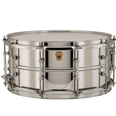 """Ludwig LB402BT Brass Edition Supraphonic 6.5x14"""" Snare Drum with Tube Lugs"""