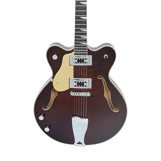 eastwood guitars classic 6 lefty walnut left handed semi reverb. Black Bedroom Furniture Sets. Home Design Ideas