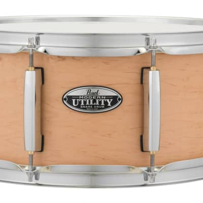 """Pearl MUS1465M/C224 Modern Utility 14x6.5"""" Maple Snare Drum 2010s Matte Natural"""