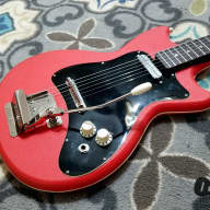 Klira Triumphator German-Made One Pick-up Electric Guitar (1964, Red Tolex) for sale