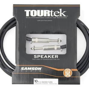 "Samson TSQ10 Tourtek 10' 14/"" to 1/4"" Speaker Cable"