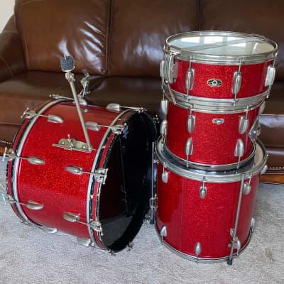 Slingerland Gene Krupa Deluxe Radio King Ensemble N-1 1950's Sparkling Red Pearl