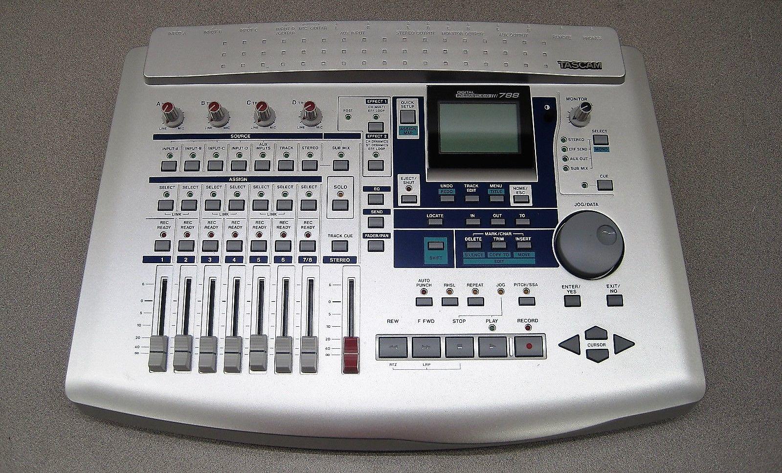 tascam digital portastudio 788 8 track digital recorder reverb. Black Bedroom Furniture Sets. Home Design Ideas