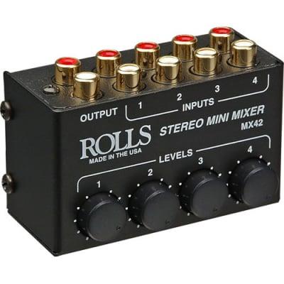 Rolls - MX42 - 4-Channel Passive Mini Stereo Mixer
