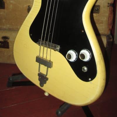 Vintage 1964 Klira Solidbody Electric Bass White for sale
