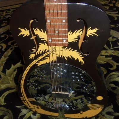 National Duolian Dobro Hula Blues Resophonic 1996 Black/Yellow for sale