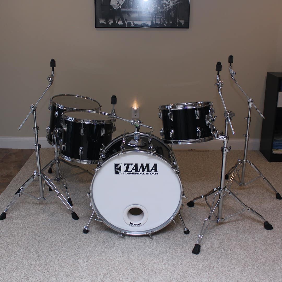 Vintage Tama Imperialstar 4 Piece Drumset With Hardware