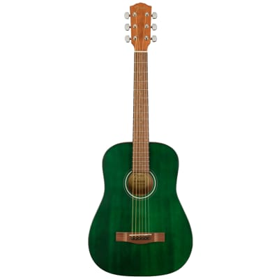 Fender FA-15 3/4 Size Nylon String Acoustic Guitar w/ Gig Bag - Green