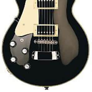 Hagstrom Super Swede Electric Guitar (Left Handed, Black Gloss) for sale