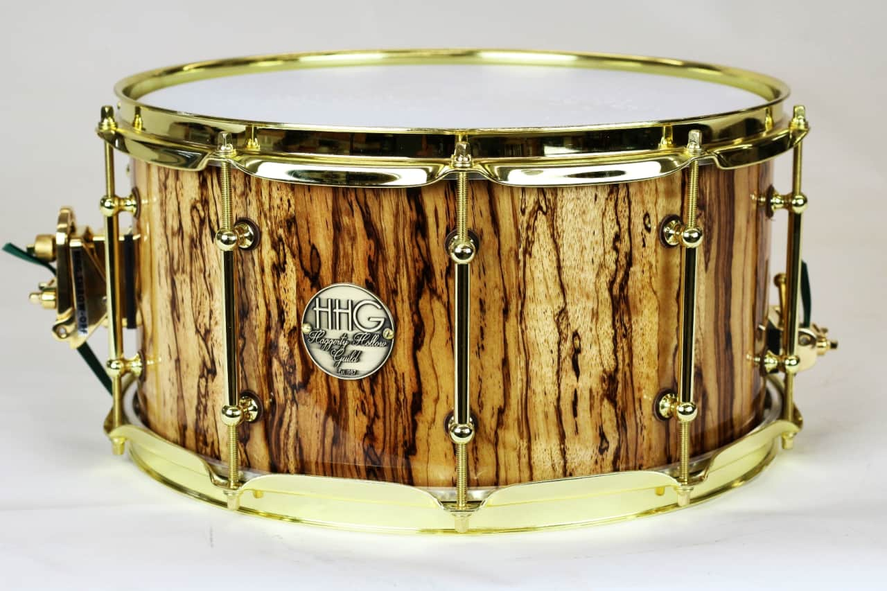 hhg drums 14x7 figured zebrawood stave snare drum 2017 high reverb. Black Bedroom Furniture Sets. Home Design Ideas