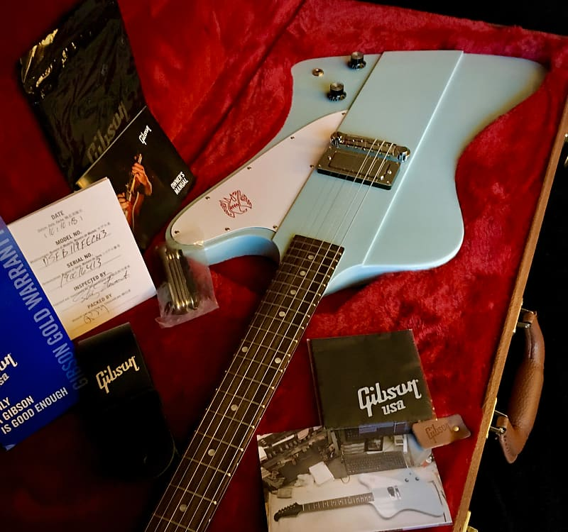 gibson firebird i 2019 frost blue with factory hardshell case reverb. Black Bedroom Furniture Sets. Home Design Ideas