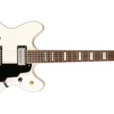 Guild Starfire V Semi-Hollow Body Electric Guitar (White) (Used/Mint) for sale