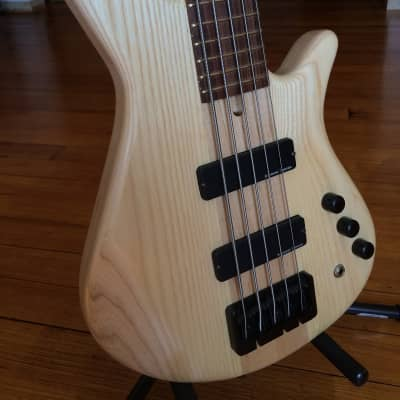 JAE Custom Basses Custom Five String 2015 Natural Ash for sale