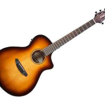 Breedlove Discovery Series Concert Sunburst CE Hollow Body Acoustic-Electric Guitar Ovangkol/Sitka Spruce - DSCN14CESSMA3 for sale