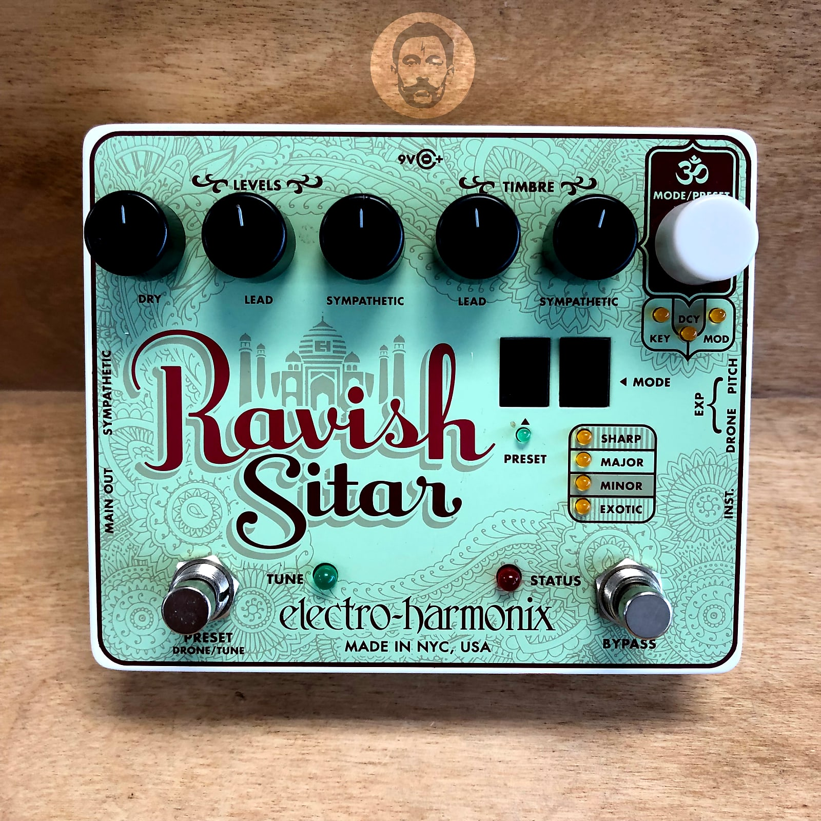Free Shipping! New Electro-Harmonix Ravish Sitar Electric Guitar Effect Pedal