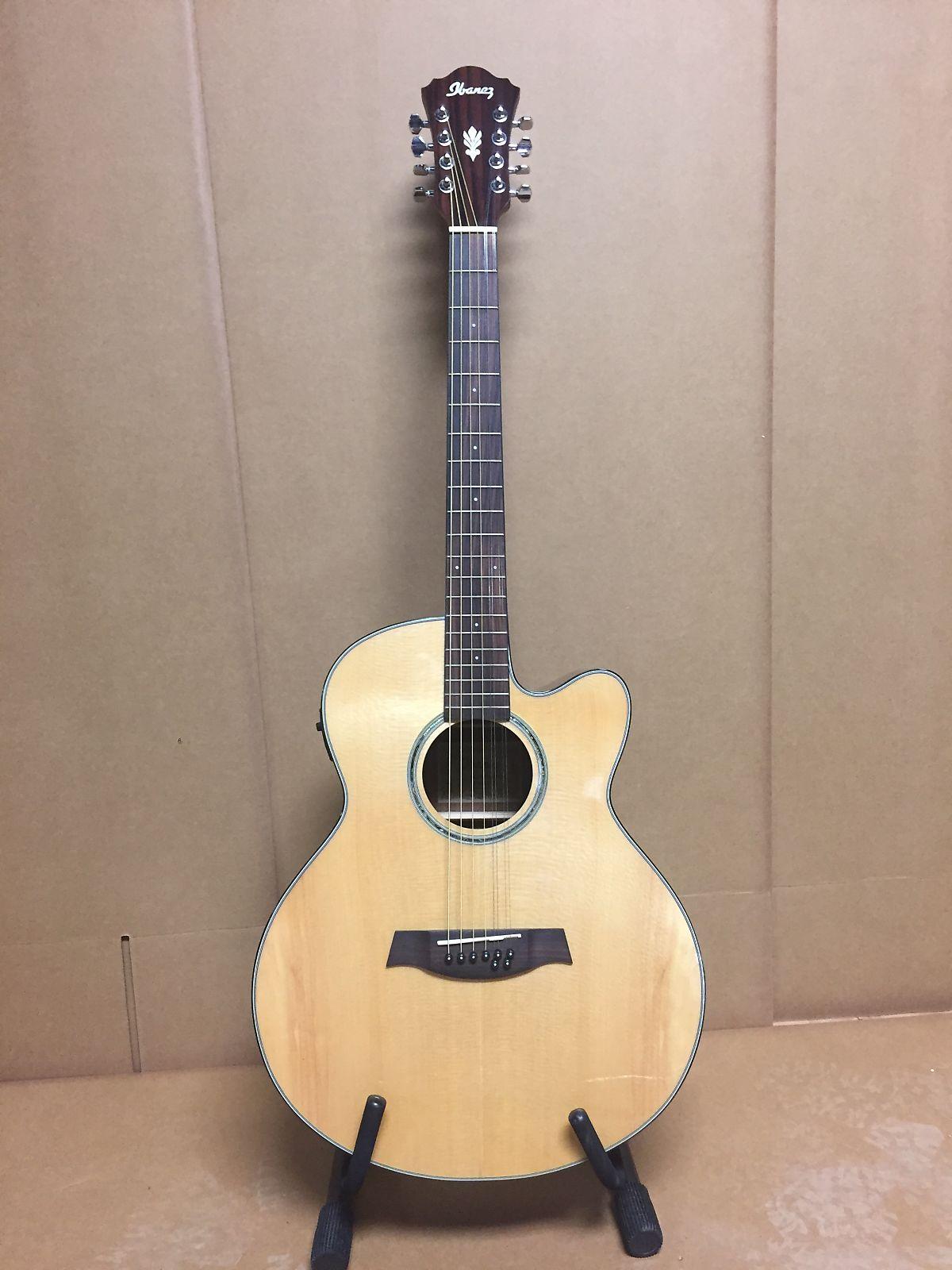 ibanez ael108tdnt 8 string acoustic electric guitar natural reverb. Black Bedroom Furniture Sets. Home Design Ideas